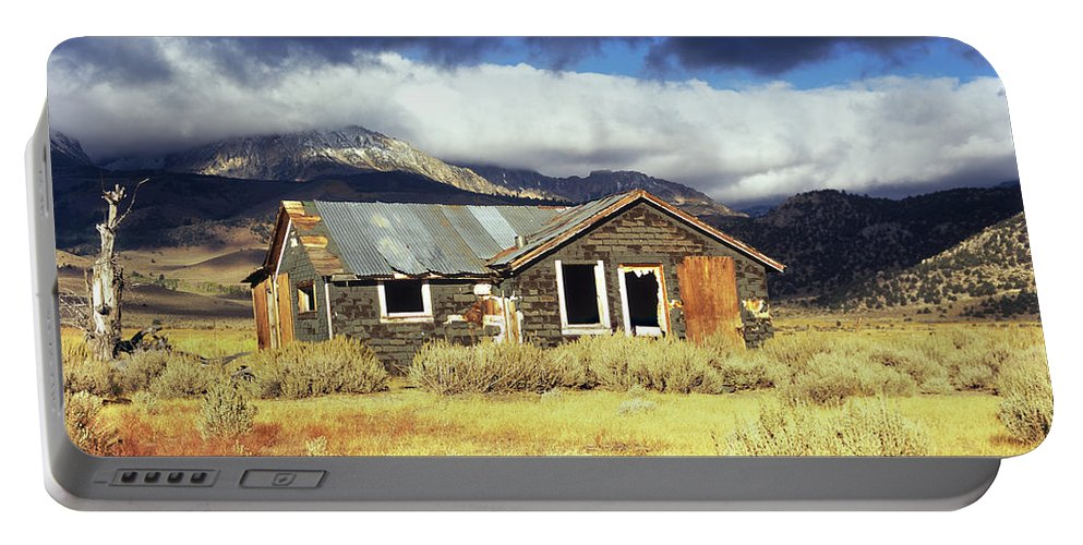 Shack Portable Battery Charger featuring the photograph Shack On 395 by Jim And Emily Bush