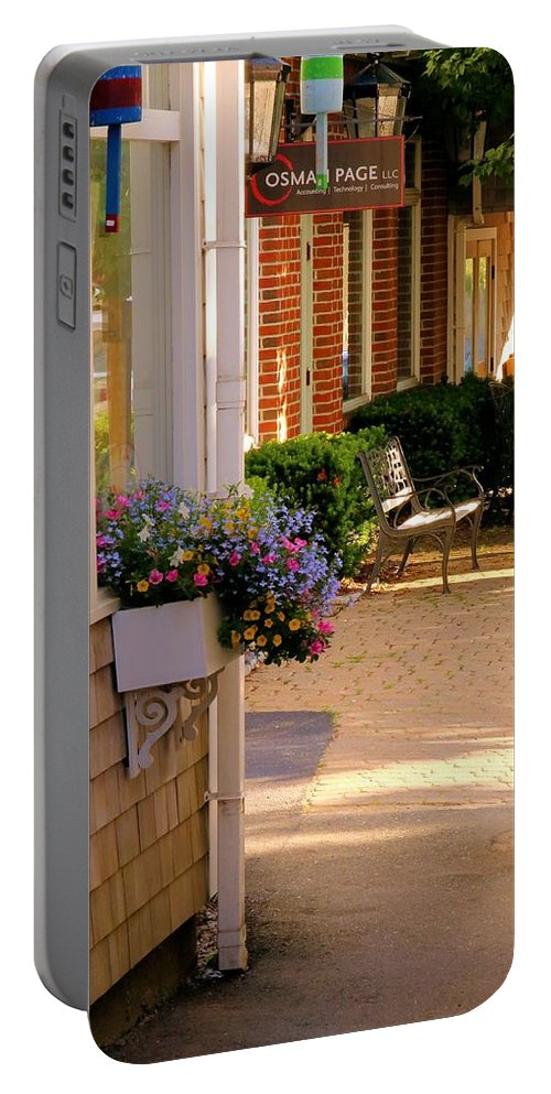 Boothbay Harbor Portable Battery Charger featuring the photograph Shaded Walkway by Robert McCulloch