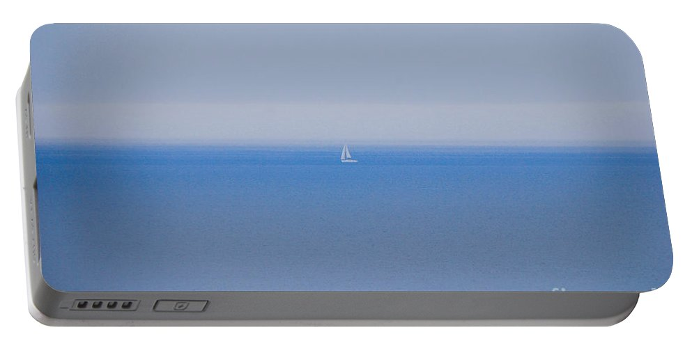 Sailboat Portable Battery Charger featuring the photograph Shades Of Blue by Mary Carol Story