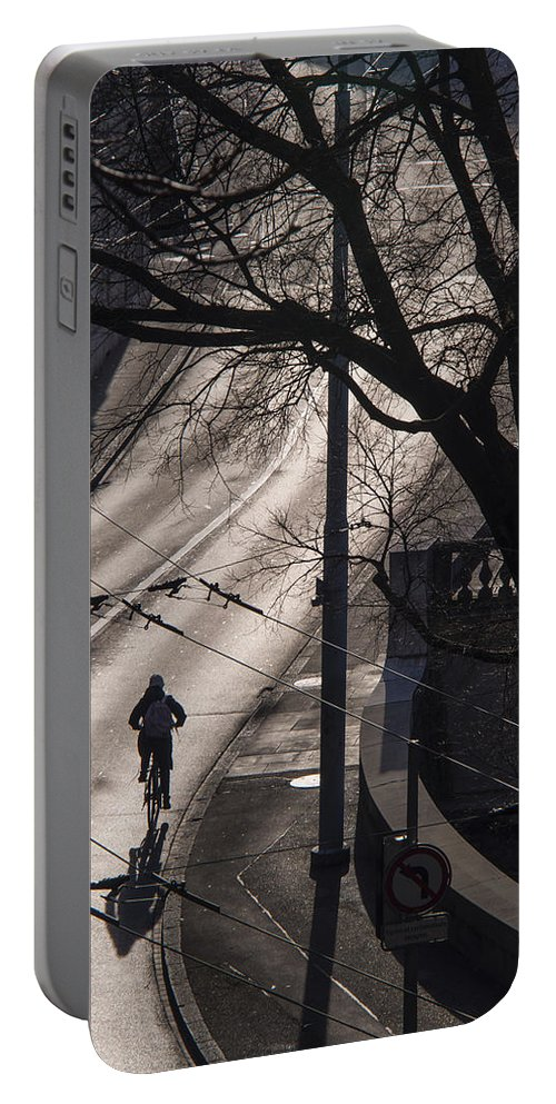 Shadow Portable Battery Charger featuring the photograph Shadow And Light by Muhie Kanawati