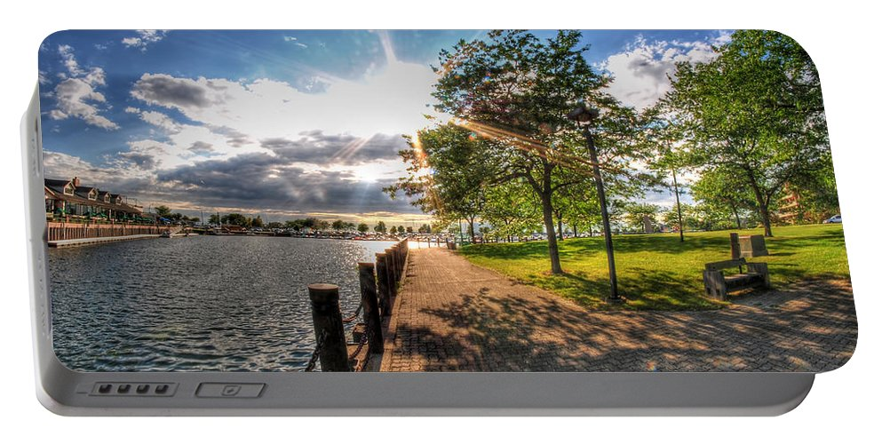 Templeton Landing Restaurant Portable Battery Charger featuring the photograph Shadow And Light V1 by Michael Frank Jr