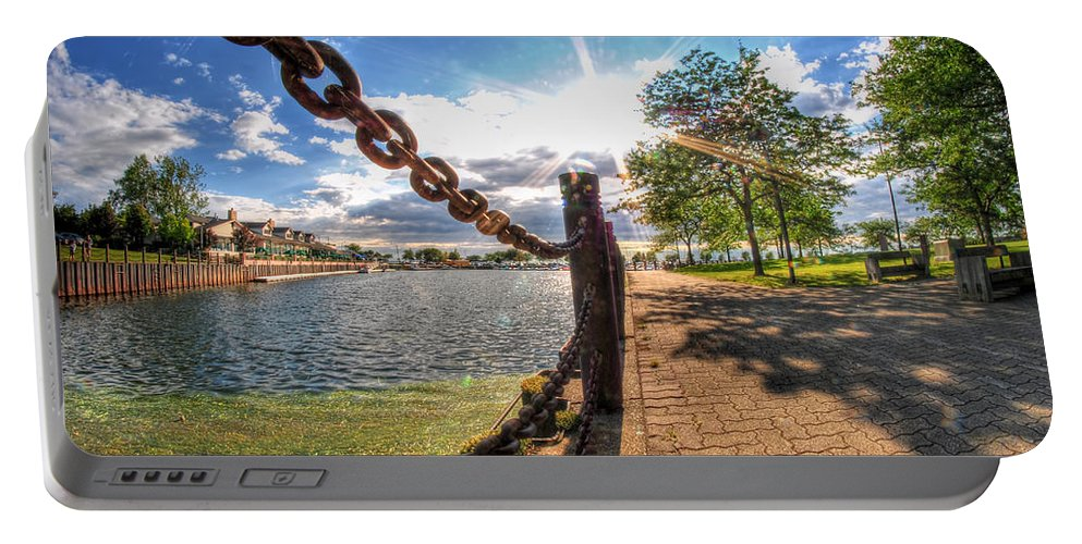 Templeton Landing Restaurant Portable Battery Charger featuring the photograph Shadow And Light V2 by Michael Frank Jr