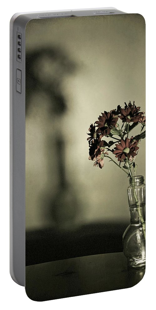 Flower Portable Battery Charger featuring the photograph Shadow Art by Christopher Rees