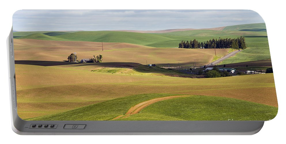 Palouse Area Portable Battery Charger featuring the photograph Shadow Division by Bob Phillips