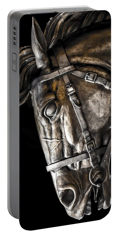 Art Portable Battery Charger featuring the photograph Shadow Steed by Sotiris Filippou