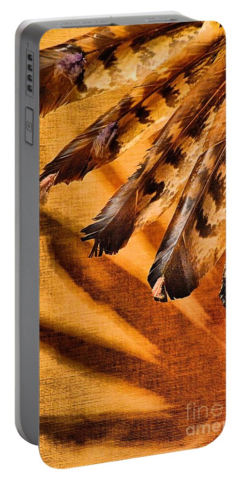 Abstract Portable Battery Charger featuring the photograph Shadowed Heritage by Lauren Leigh Hunter Fine Art Photography