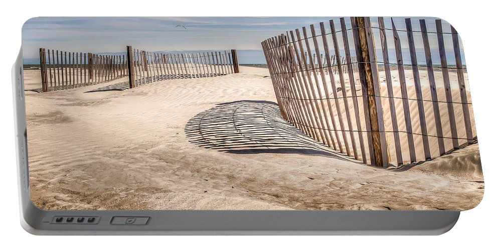 Folly Beach Portable Battery Charger featuring the photograph Shadows In The Sand II by Curtis Cabana