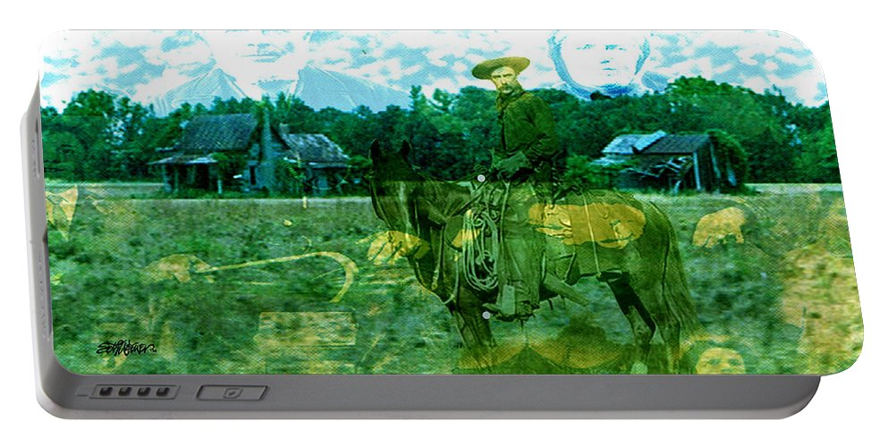Shadow On The Land Portable Battery Charger featuring the digital art Shadows On The Land by Seth Weaver