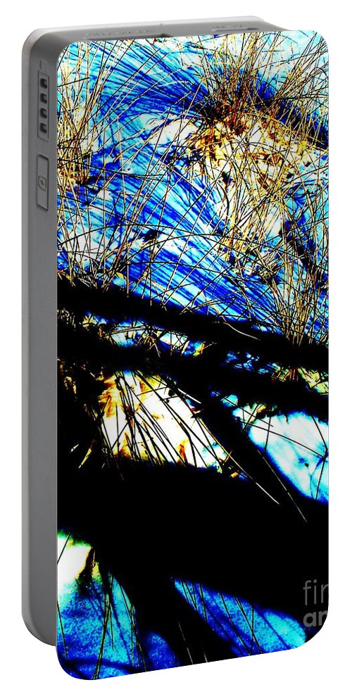Dune Portable Battery Charger featuring the photograph Shadowy Snowy Dune by Eric Schiabor