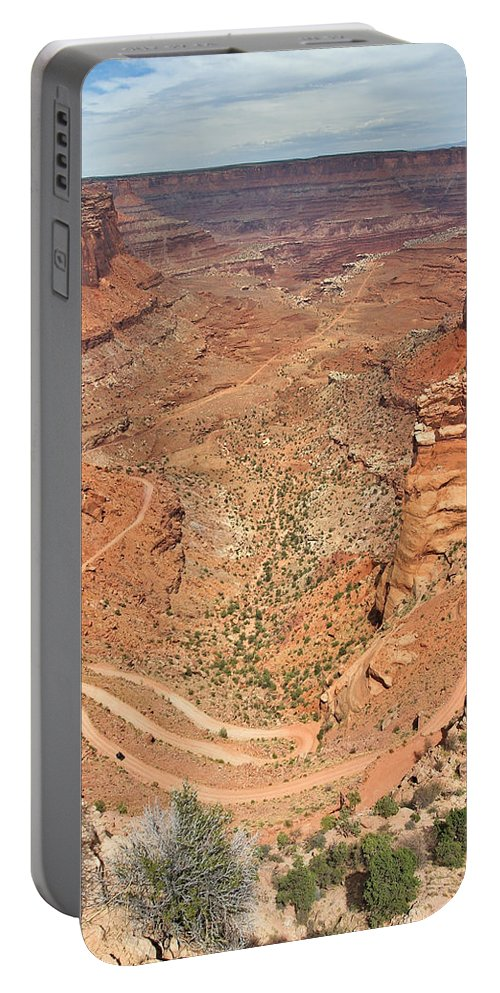 3scape Portable Battery Charger featuring the photograph Shafer Trail by Adam Romanowicz