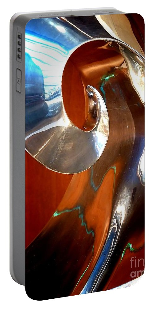 Abstract Portable Battery Charger featuring the photograph Shape Shifter by Lauren Leigh Hunter Fine Art Photography