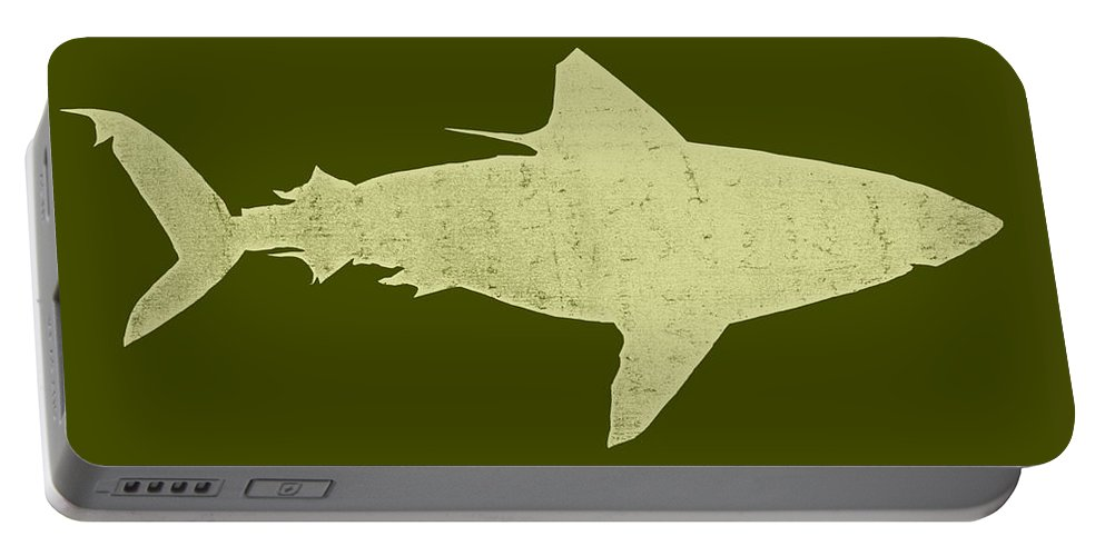Shark Portable Battery Charger featuring the digital art Shark by Michelle Calkins