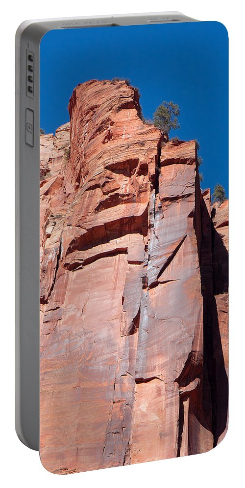 Landscape Portable Battery Charger featuring the photograph Sheer Canyon Walls by John M Bailey