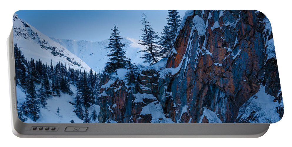 Cliff Portable Battery Charger featuring the photograph Sheer Walls by Nikolai Martusheff