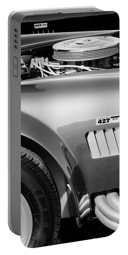 Shelby Cobra 427 Engine Portable Battery Charger featuring the photograph Shelby Cobra 427 Engine by Jill Reger