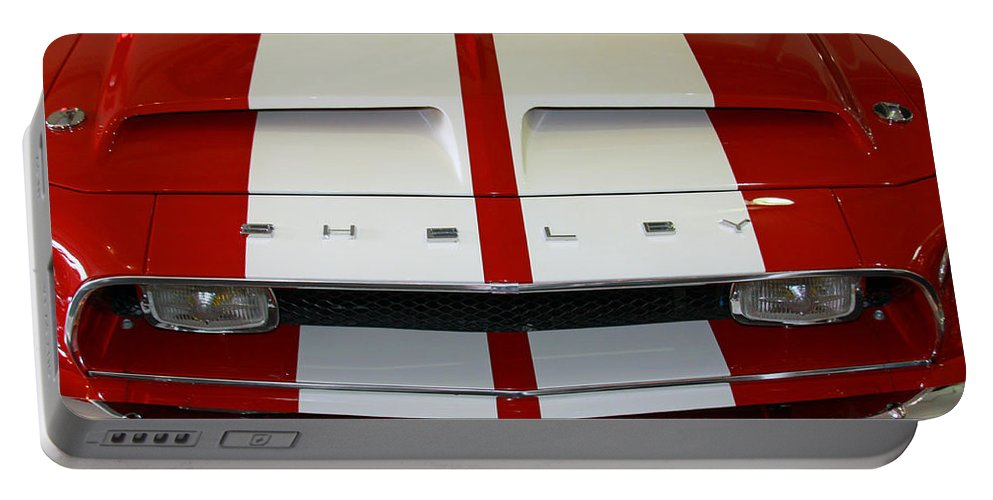 Mustang Portable Battery Charger featuring the photograph Shelby Hood by Shoal Hollingsworth