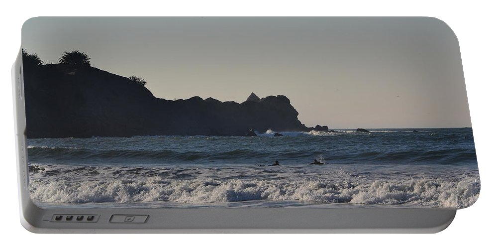Surf Portable Battery Charger featuring the photograph Shelter Cove by Dean Ferreira