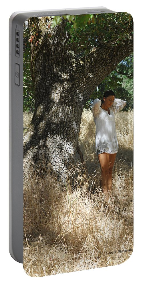 Maiden Portable Battery Charger featuring the photograph Sheltered From The Heat by Donna Blackhall