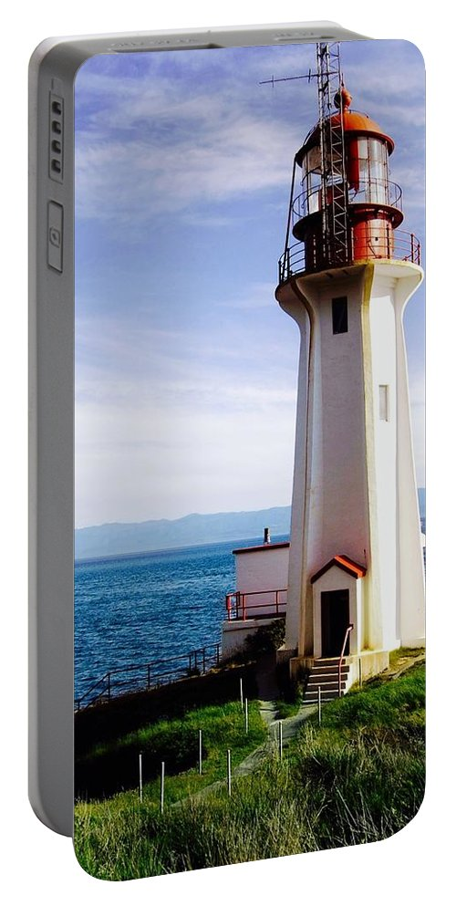 Portable Battery Charger featuring the photograph Sheringham Lighthouse by Randy Giesbrecht
