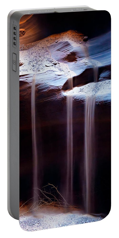 Antelope Canyon Portable Battery Charger featuring the photograph Shifting Sands by Dave Bowman