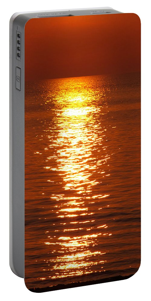 Sunset Portable Battery Charger featuring the photograph Shimmering by Jenny Gandert