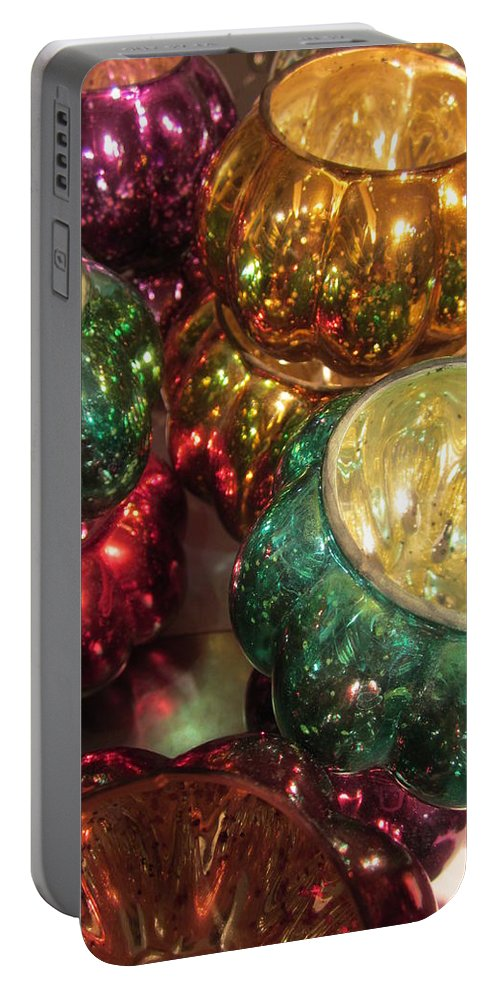 Blue Portable Battery Charger featuring the photograph Shiny by Rosita Larsson