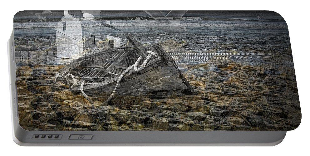 Composite Portable Battery Charger featuring the photograph Ship Wreck Dream by Randall Nyhof