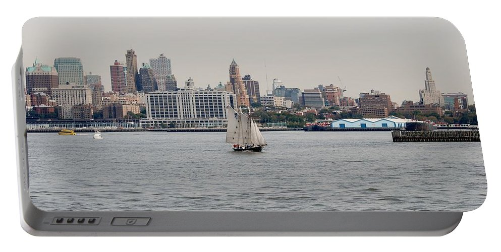 New York Portable Battery Charger featuring the photograph Ships And Boats by Rob Hans