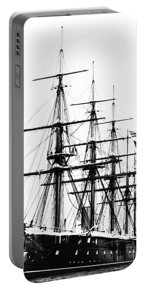 19th Century Portable Battery Charger featuring the photograph Ships Hms 'agincourt by Granger