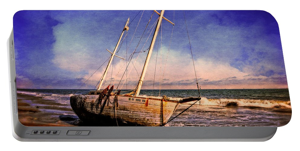 Ship Portable Battery Charger featuring the photograph Shipwrecked by Lynn Bauer