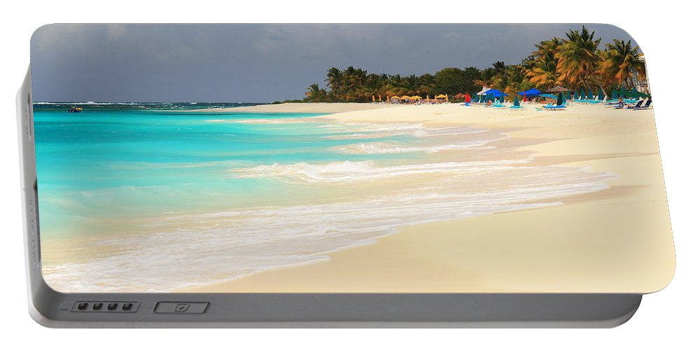 Shoal Bay Portable Battery Charger featuring the photograph Shoal Bay Beach by Roupen Baker
