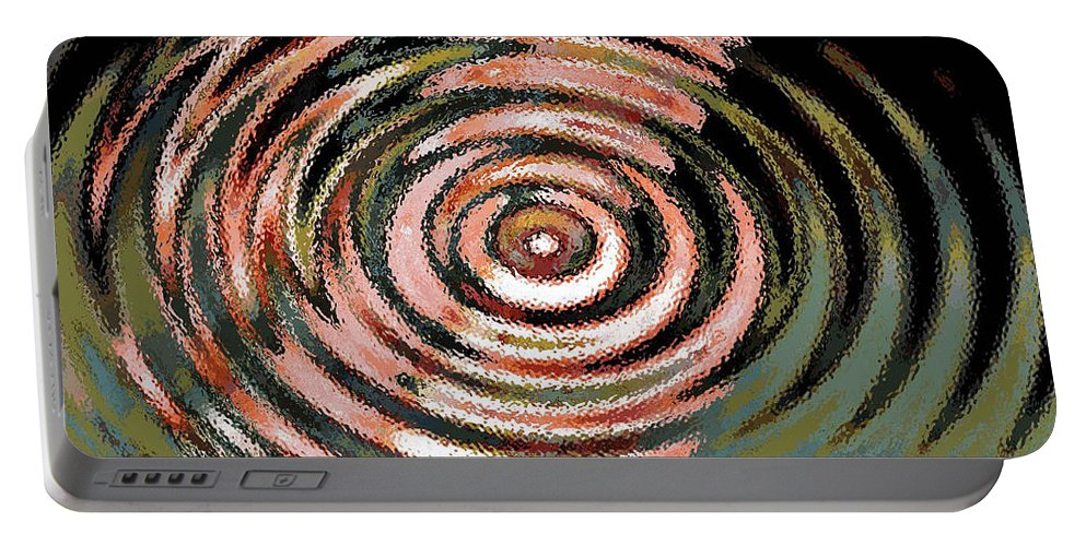 Digital Art Abstract Portable Battery Charger featuring the digital art Shoot For The Moon by Yael VanGruber
