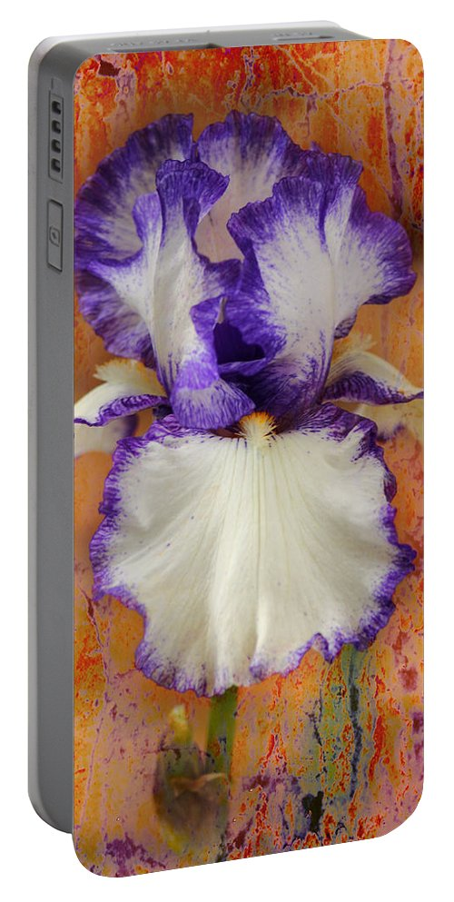 Iris Portable Battery Charger featuring the photograph Show-off by Karen Beasley
