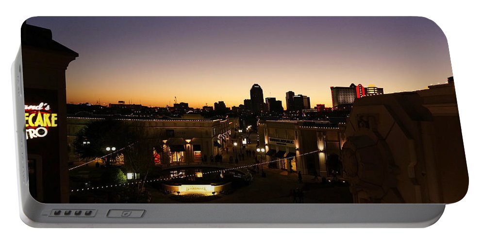 Shreveport Portable Battery Charger featuring the photograph Shreveport Skyline by Darrell Clakley