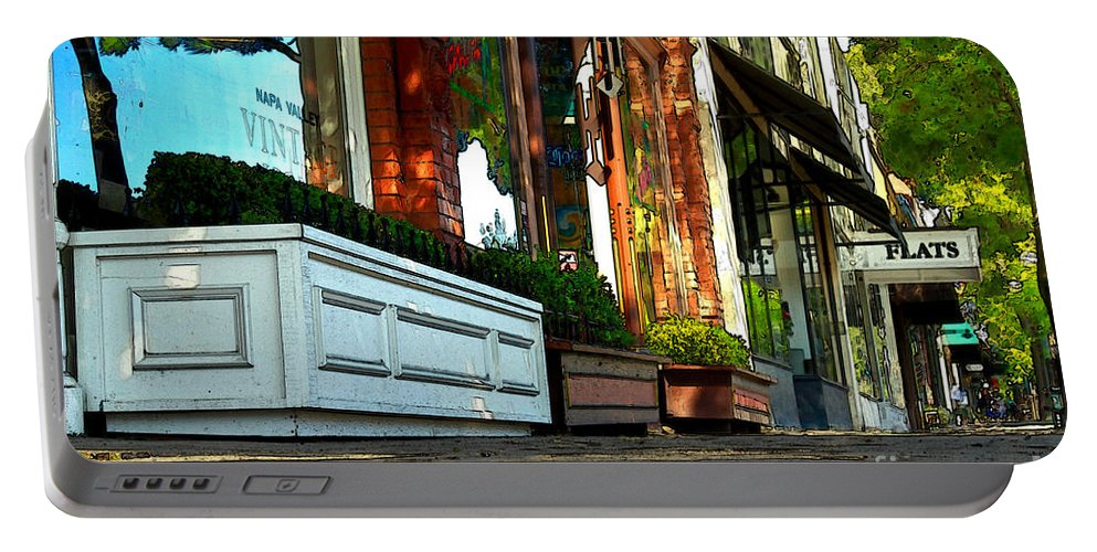 Sidewalk Portable Battery Charger featuring the photograph Sidewalk In Saint Helena by James Eddy