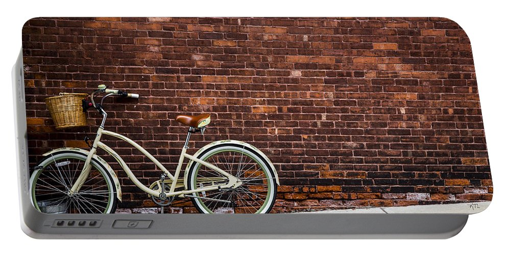 Bike Portable Battery Charger featuring the photograph Sidewalk Parking by Karol Livote