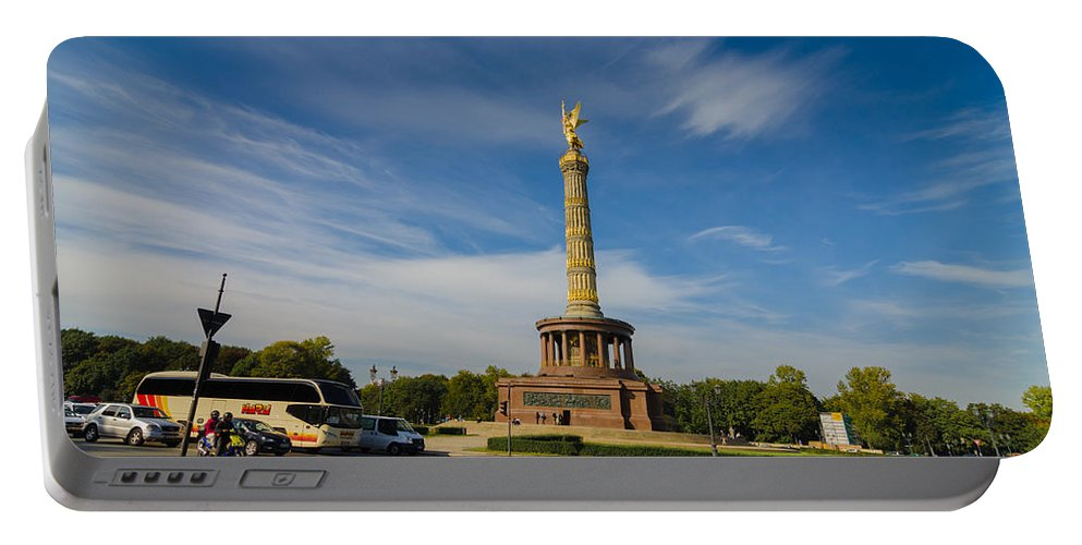 Siegessäule Portable Battery Charger featuring the photograph Siegessaule by Jonah Anderson
