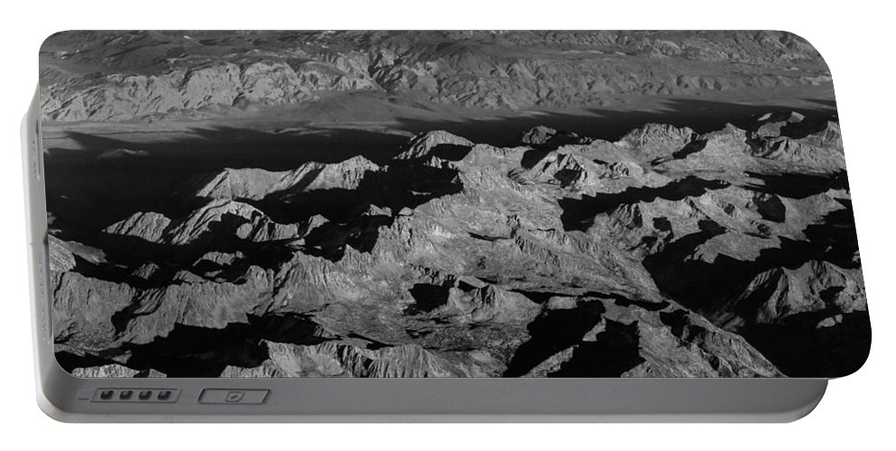 Black Portable Battery Charger featuring the photograph Sierra Nevada Shadows by John Daly
