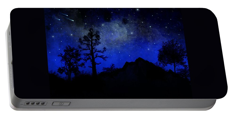 Sierra Silhouette Portable Battery Charger featuring the painting Sierra Silhouette Wall Mural by Frank Wilson