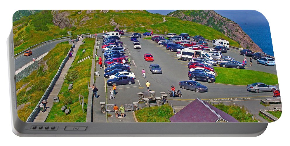 Signal Hill National Historic Site In Saint John's Portable Battery Charger featuring the photograph Signal Hill National Historic Site In Saint John's-nl by Ruth Hager