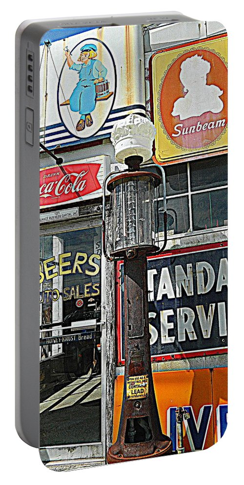 Signs Portable Battery Charger featuring the photograph Signs Of Our Times 1 by Kathy Barney