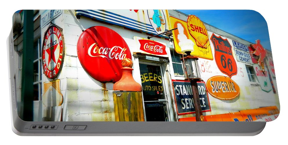 Signs Portable Battery Charger featuring the photograph Signs Of Our Times by Kathy Barney