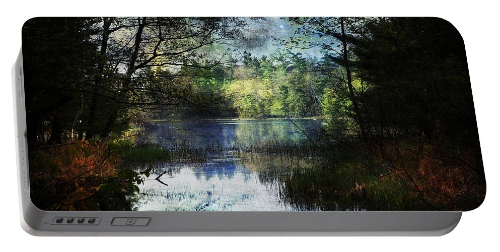 Evie Carrier Portable Battery Charger featuring the photograph Silent Lake Ludington Michigan by Evie Carrier