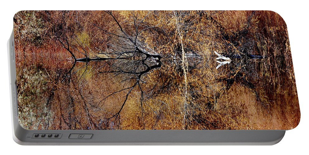 Photograph Portable Battery Charger featuring the photograph Silent Reflections by Vicki Pelham