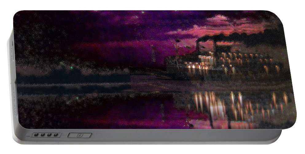 Silent River Portable Battery Charger featuring the digital art Silent River by Seth Weaver