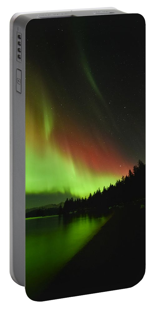 Aurora Portable Battery Charger featuring the photograph Crimson Tide by Ted Raynor
