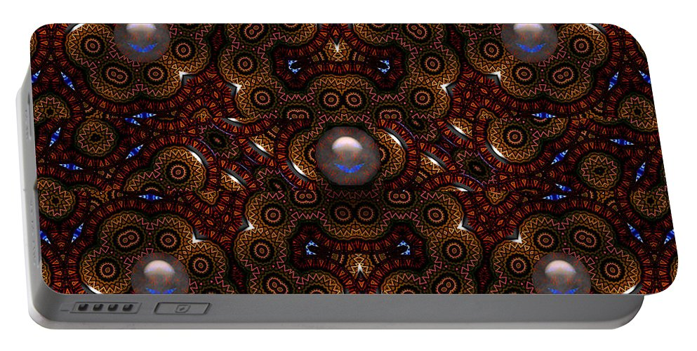 Brown Portable Battery Charger featuring the digital art Silk And Satin- by Robert Orinski
