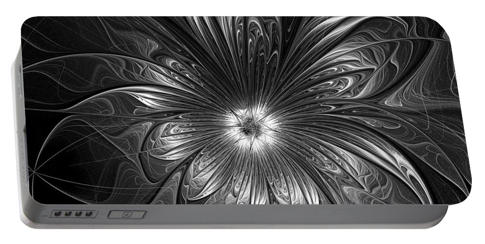 Digital Art Portable Battery Charger featuring the digital art Silver by Amanda Moore