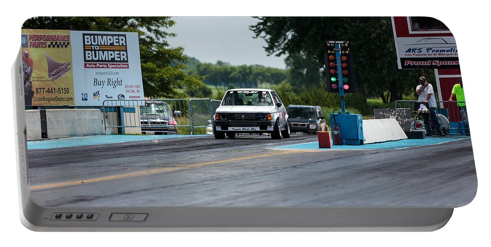 Dodge Omni Glhs Portable Battery Charger featuring the photograph Silver Dodge Omni Glhs - 03 by Josh Bryant