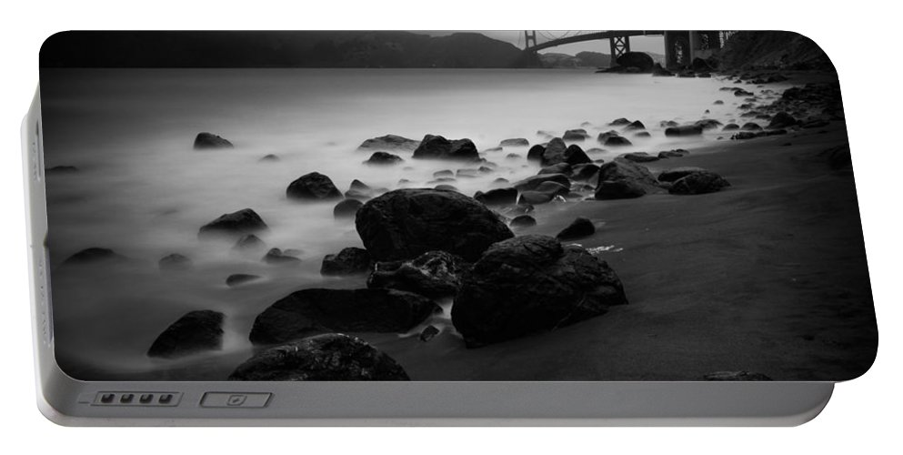 Golden Gate Portable Battery Charger featuring the photograph Silver Gate by Dayne Reast